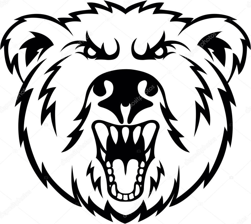 Angry Bear Head Symbol