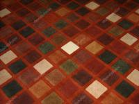 Colorful carpet with square pattern  Stock Photo  gor21 ...
