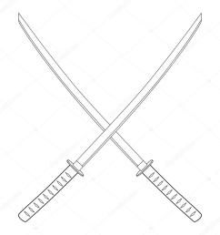 espada katana cruzada foto de stock [ 1024 x 1024 Pixel ]