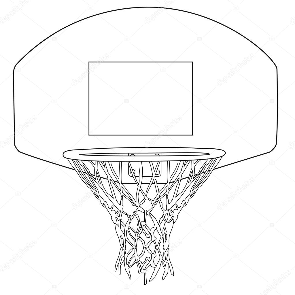 Basketball hoop — Stock Vector © viktorijareut #81645590
