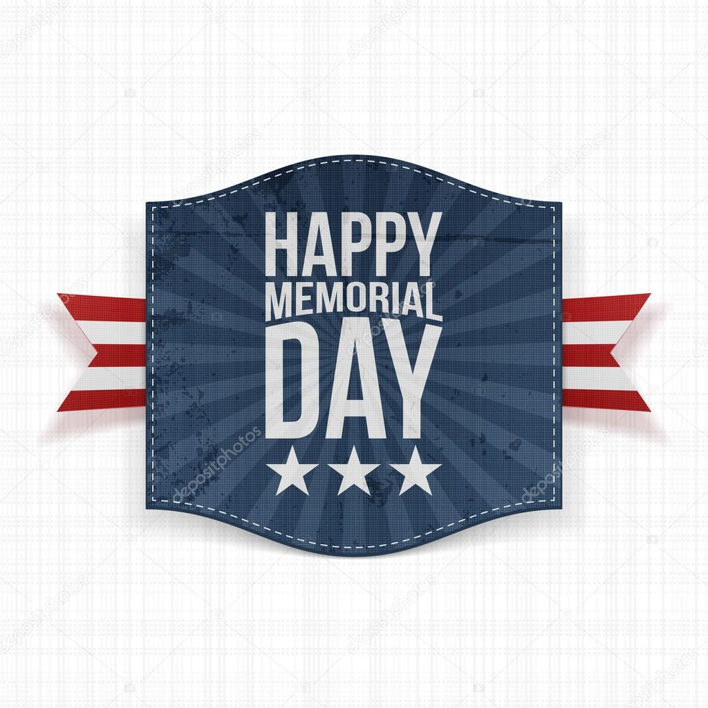 Happy Memorial Day Greeting Banner With Text