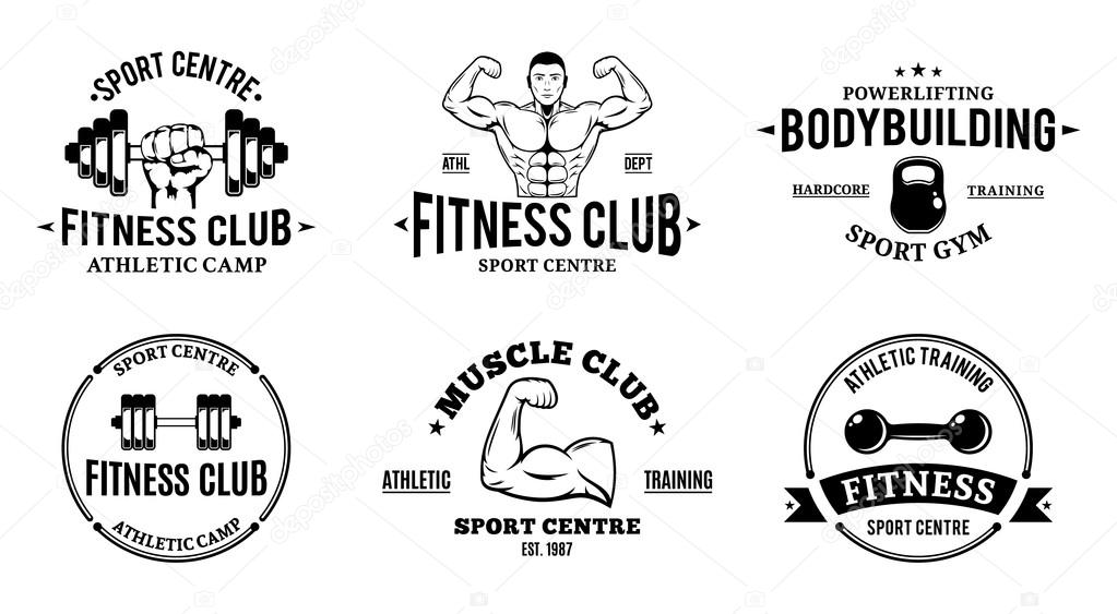 Sport and Fitness Logo Templates, Gym Logotypes, Athletic