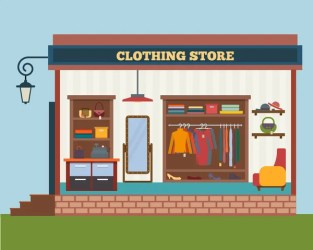ᐈ Cartoon shops stock images Royalty Free cartoon clothing store cliparts download on Depositphotos®