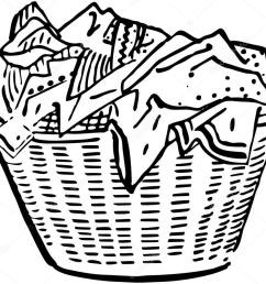 laundry basket stock vector [ 1023 x 897 Pixel ]
