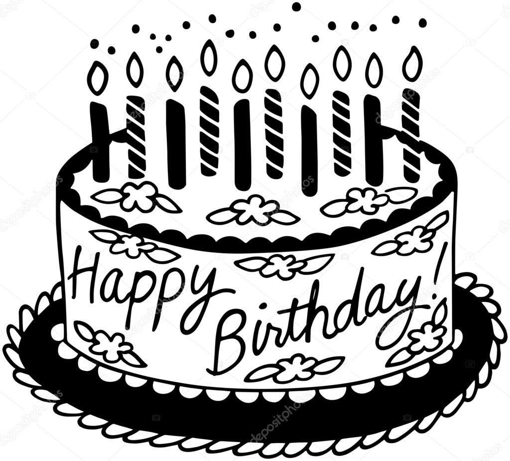 Clipart Birthdays Of The Month Happy Birthday Cake