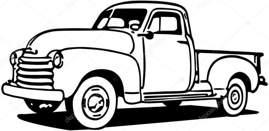 Chevy Pickup Truck — Stock Vector © RetroClipArt #55675317