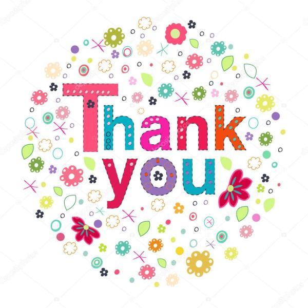 Ευχαριστώ κύκλο ευχετήρια κάρτα με τα ζωηρόχρωμα λουλούδια