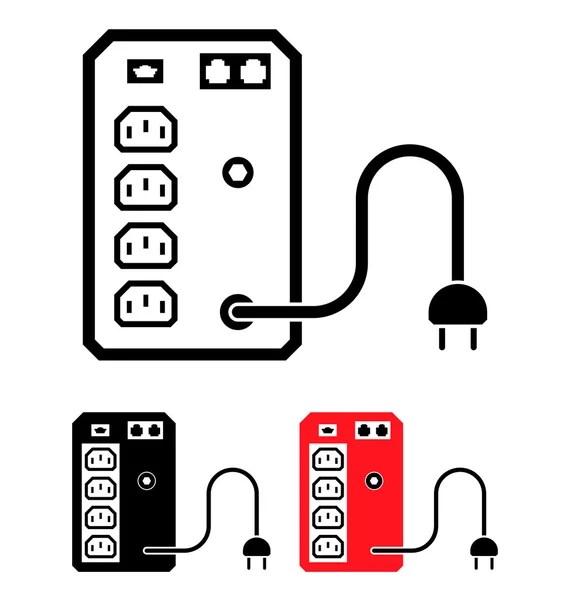 USV unterbrechungsfreie Stromversorgung Symbol, Vektor