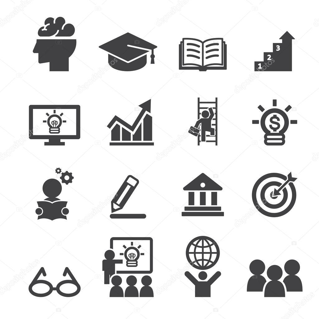 business education icon — Stock Vector © jacartoon #70808087