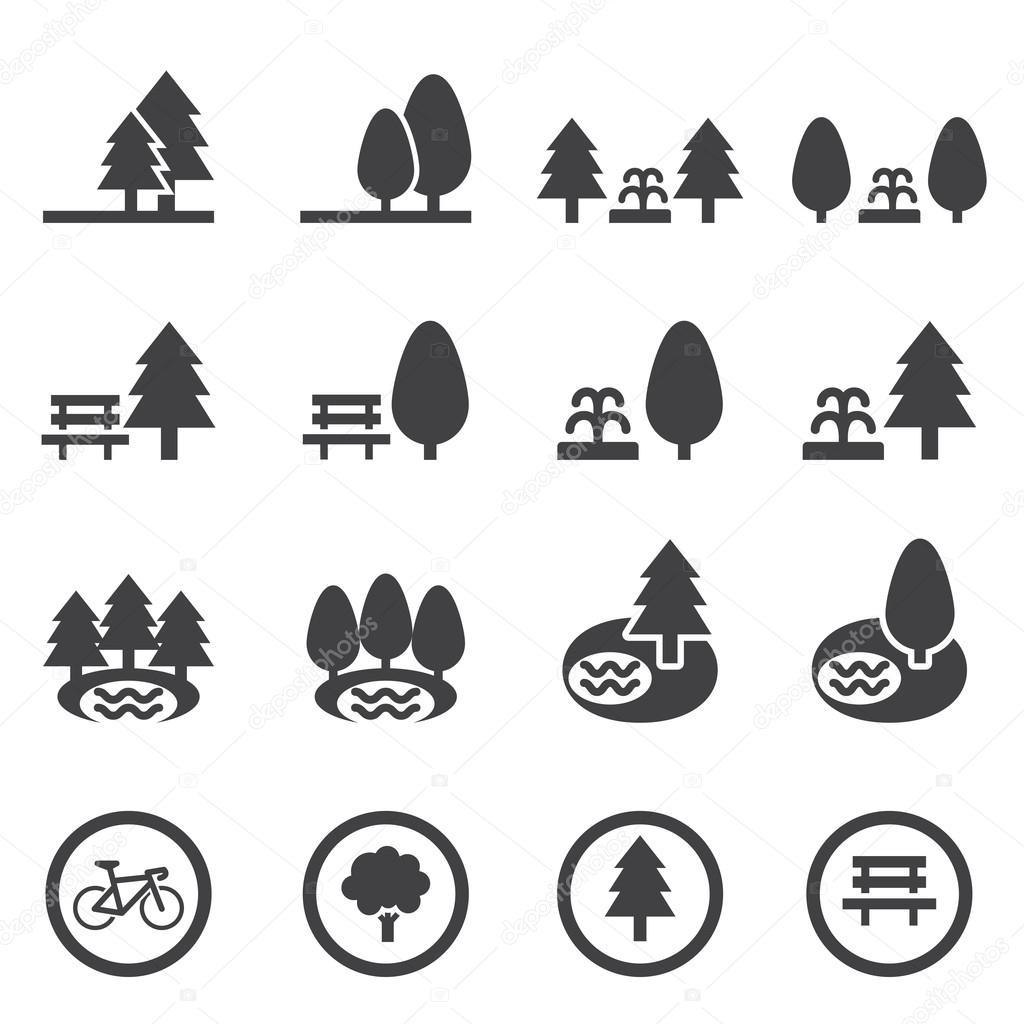park icon set — Stock Vector © jacartoon #78433030