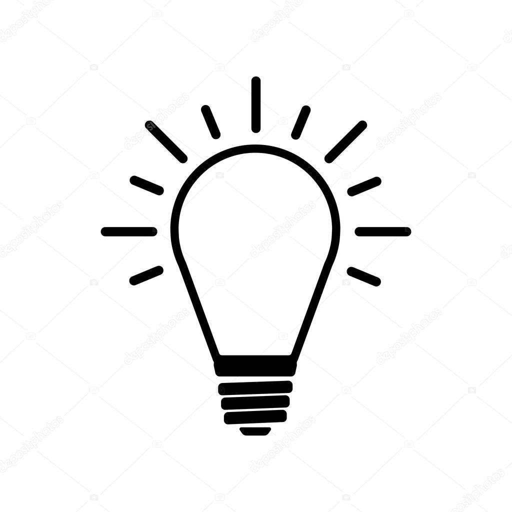 Het Pictogram Licht Lamp Idee Symbool Flat