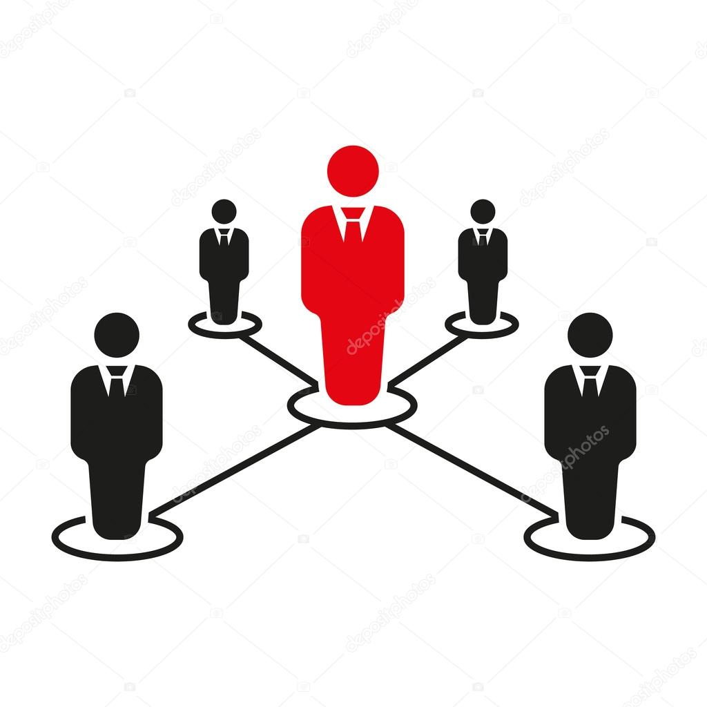 The Teamwork Icon Leadership And Connection Business