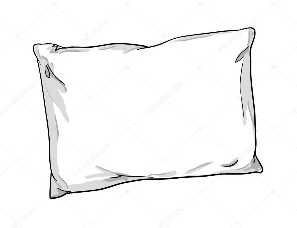 illustratie van kussen schets — Stockvector © AlsouSh