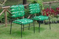 recycled chair made from plastic bottle  Stock Photo ...