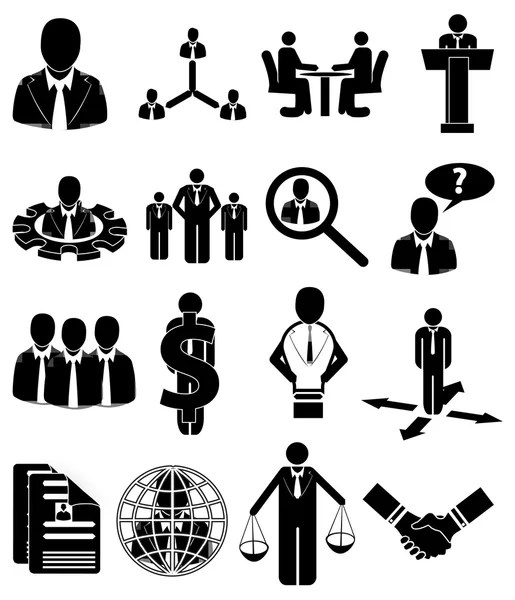 Human resource management, HRM — Stock Vector