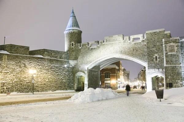 Qubec Ville Historique Vieille Forteresse En Hiver