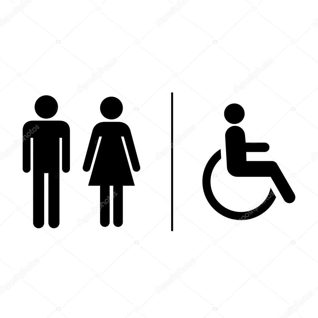 Contrassegno Del Segno Di Toilette