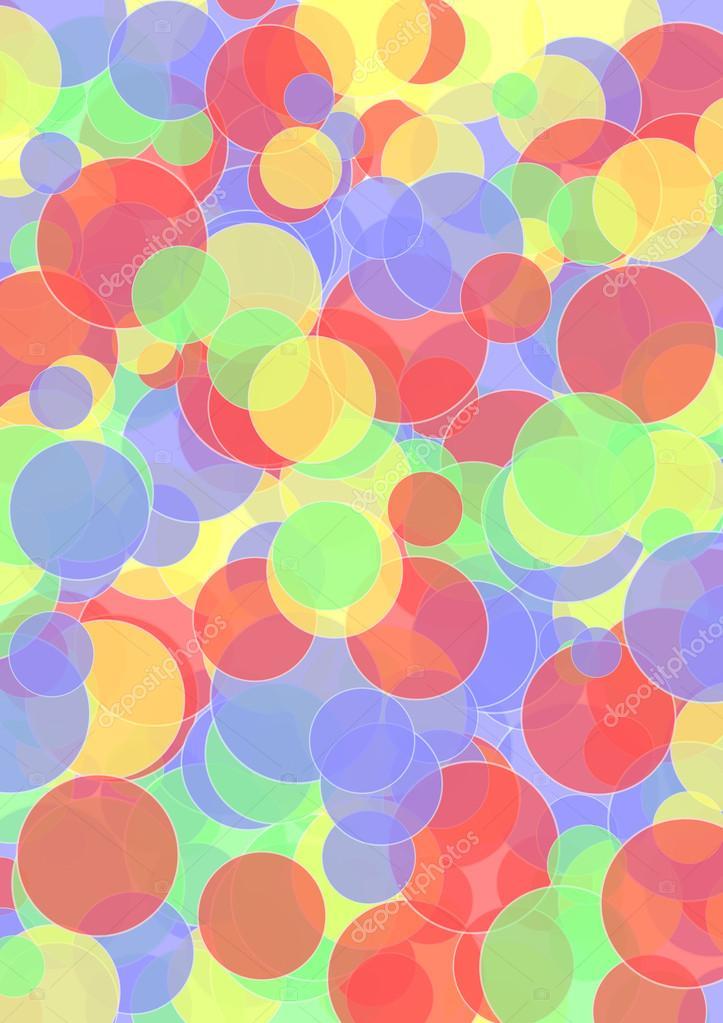 Fondo con capas de colores fuertes crculos  Fotos de