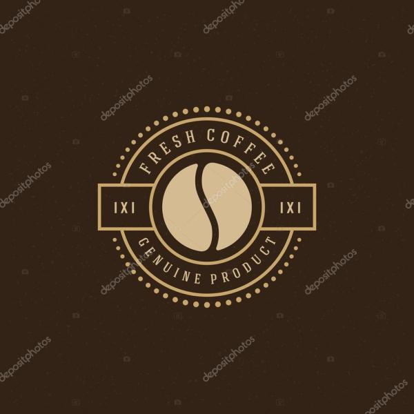 Coffee Logo Design Element Stok Vekt Provectors