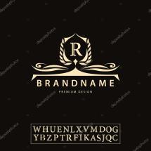 Luxury Vintage Logo. Business Sign Label Letter Emblem