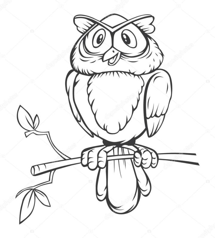 Black And White Owl Cartoon Stock Vector Imazyreams 58431155 Clip Art