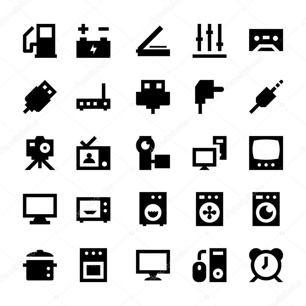 Electronics and Devices Vector Icons 7 — Stock Vector