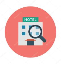 Hotel Colored Vector Icon Stock