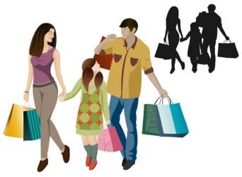 ᐈ Shopper cartoon stock illustrations Royalty Free family shopping vectors download on Depositphotos®