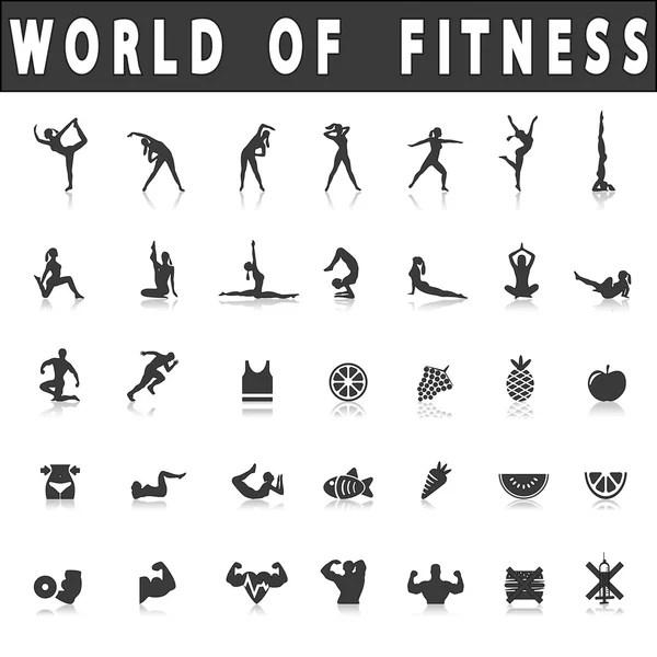 100 yoga poses on white background — Stock Photo © doodko