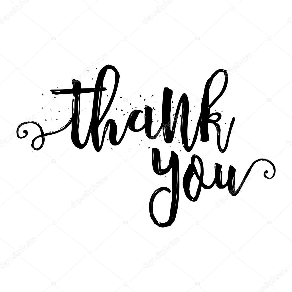 Thank You Calligraphy Sign