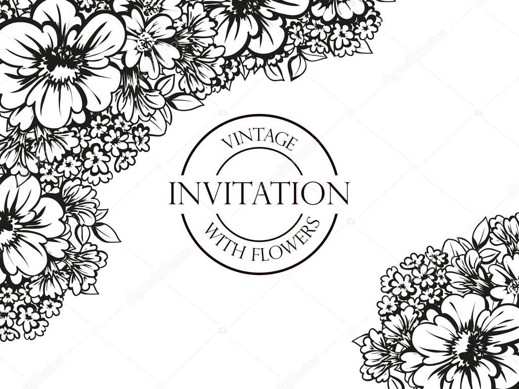 https depositphotos com 106890796 stock illustration black and white wedding invitation html