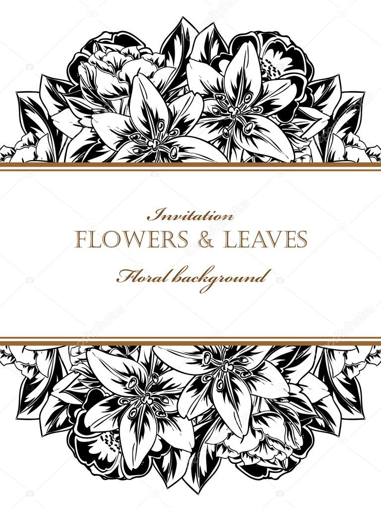 https depositphotos com 109320578 stock illustration black and white wedding invitation html