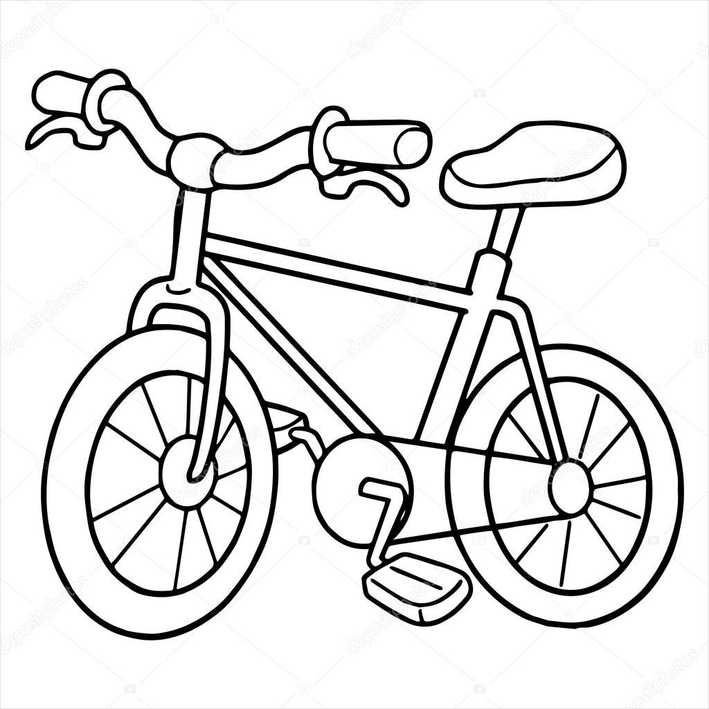 bicycle cartoon illustration isolated