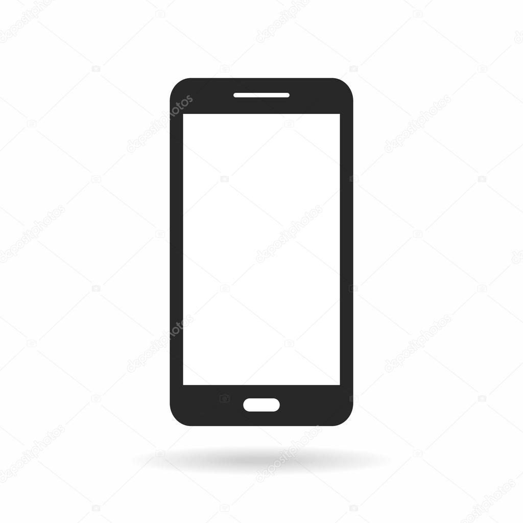 Telefonsymbol Mit Leerer Bildschirm