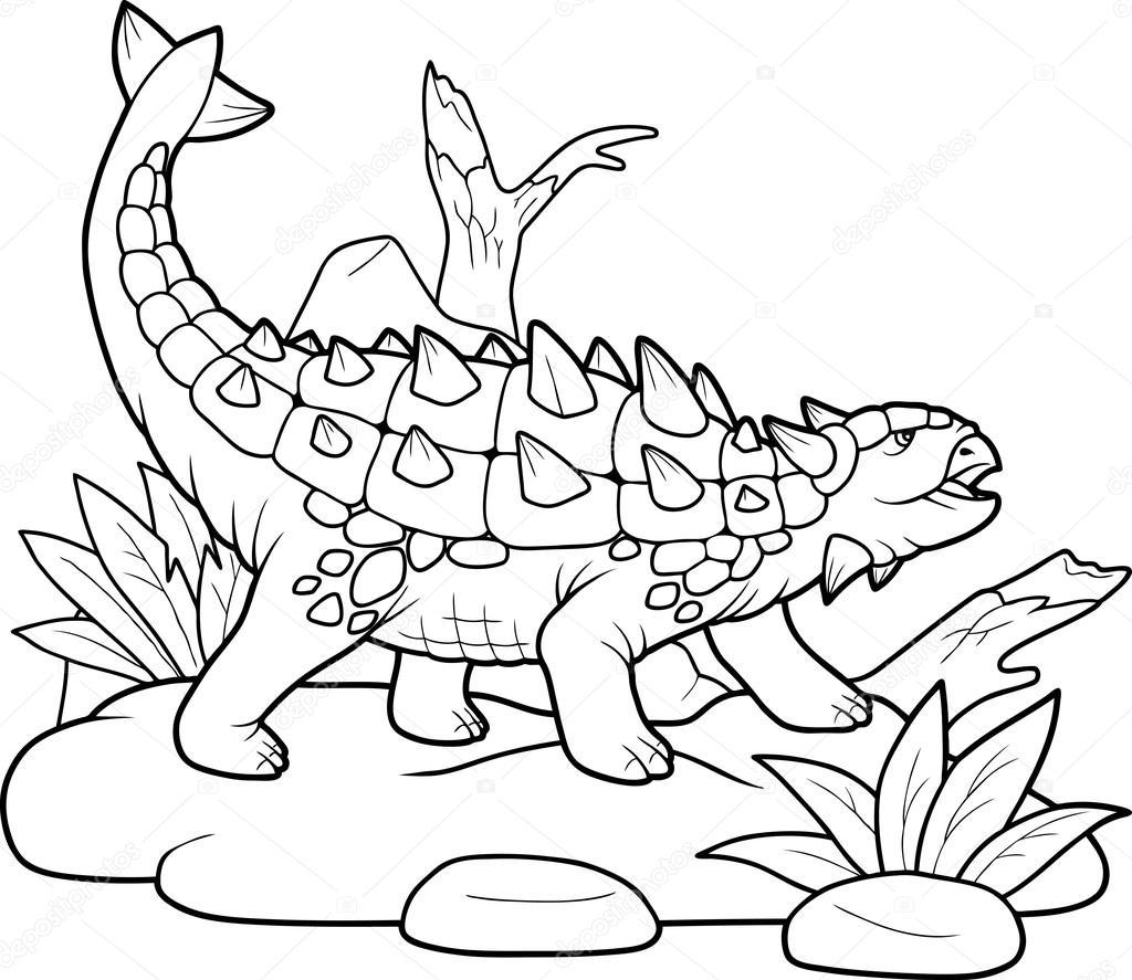 Ankylosaurus, preparing for battle — Stock Vector © Fargon