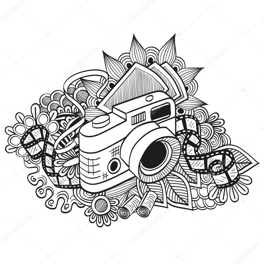 Doodle hipster camera — Stock Vector © Reginast777 #62438341