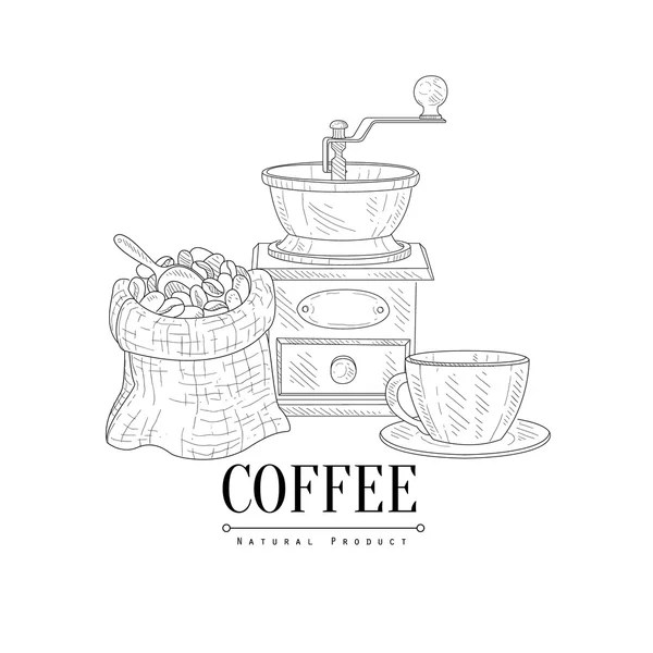 Coffee mill sketch — Stock Vector © Danussa #4580115