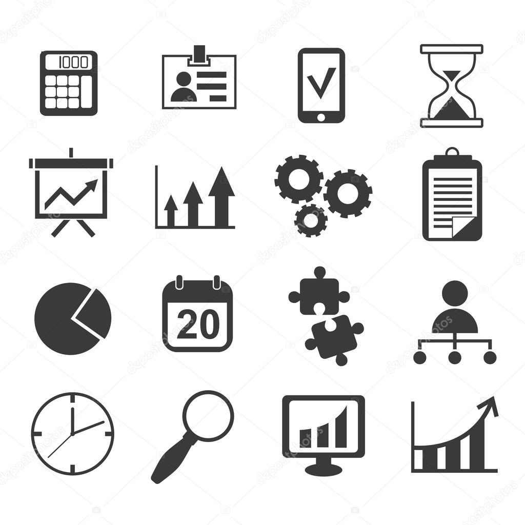 Negociosista Marketing Conjunto De Icones