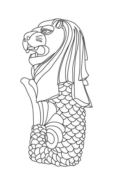 ᐈ Merlion stock illustrations, Royalty Free singapore