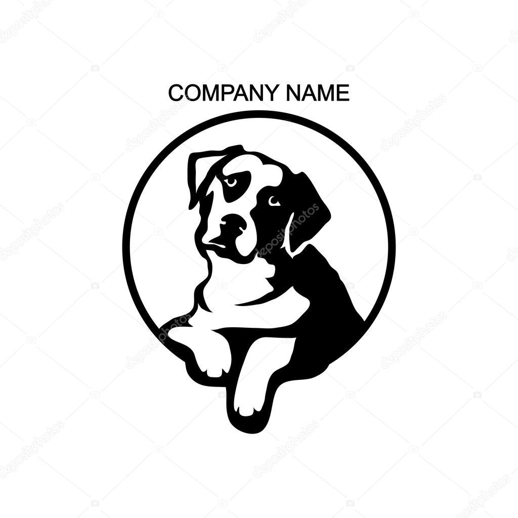 Pes logo šablona — Stockový vektor #101580204