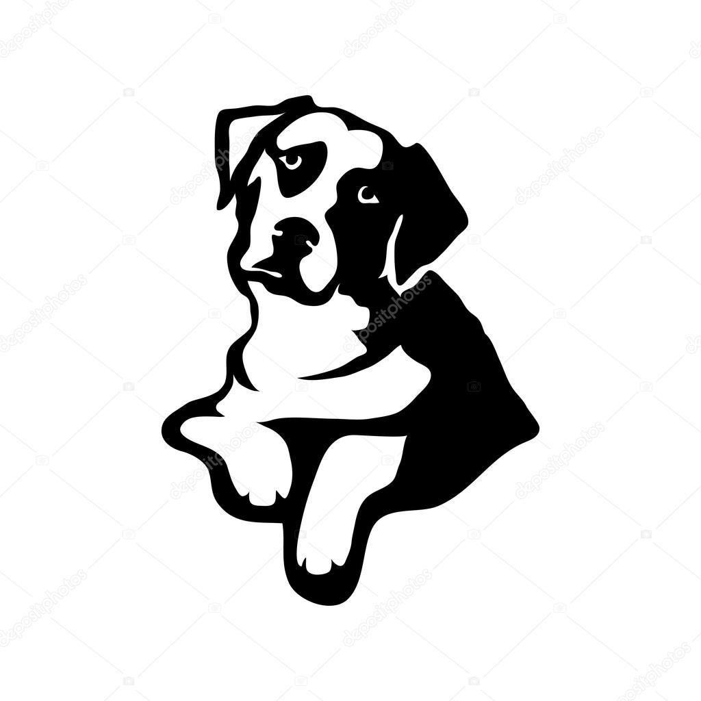 Modelo de logotipo de cão — Vetores de Stock
