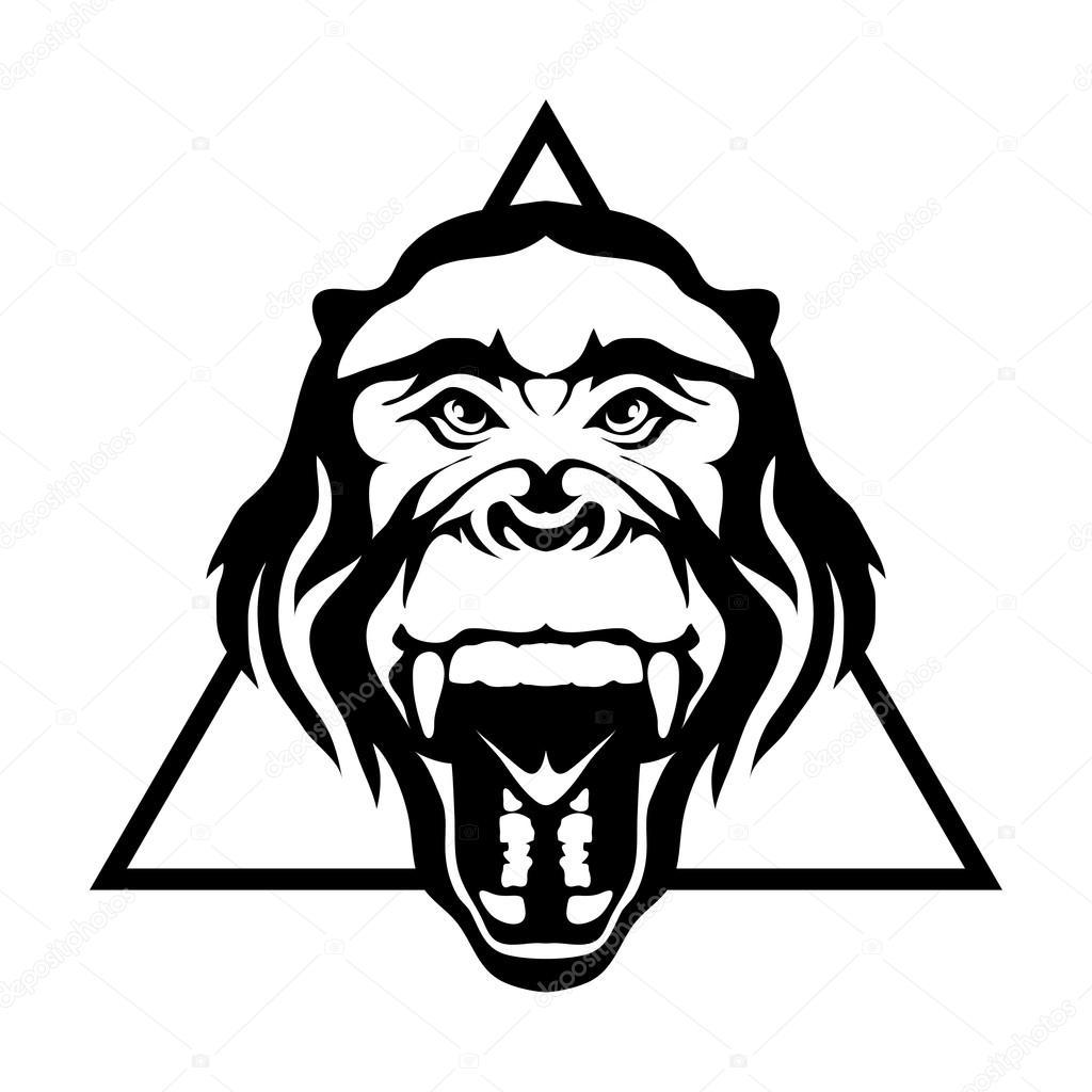 Ilustracao Do Logotipo De Gorila