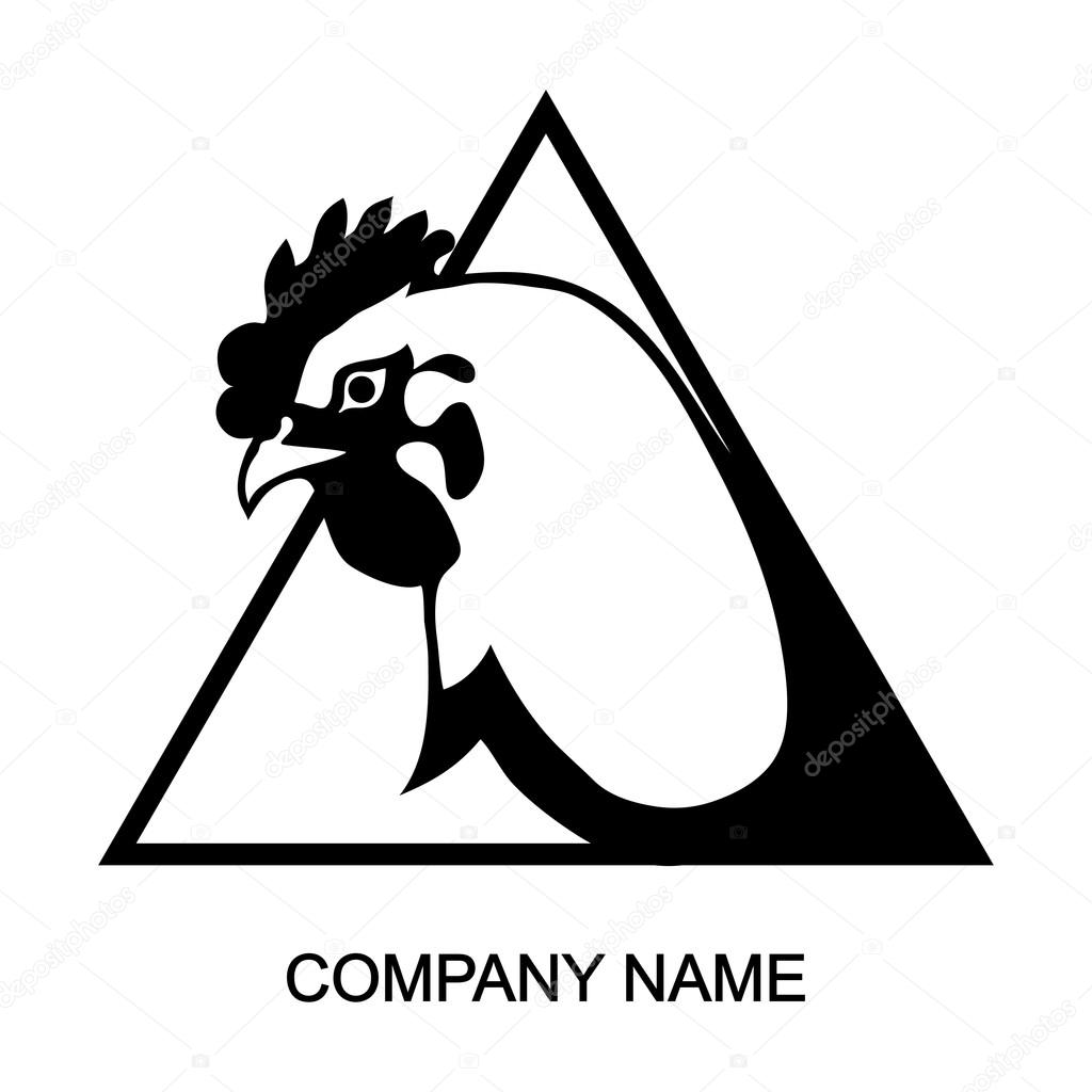 Chicken logo with place for company name — Stock Vector