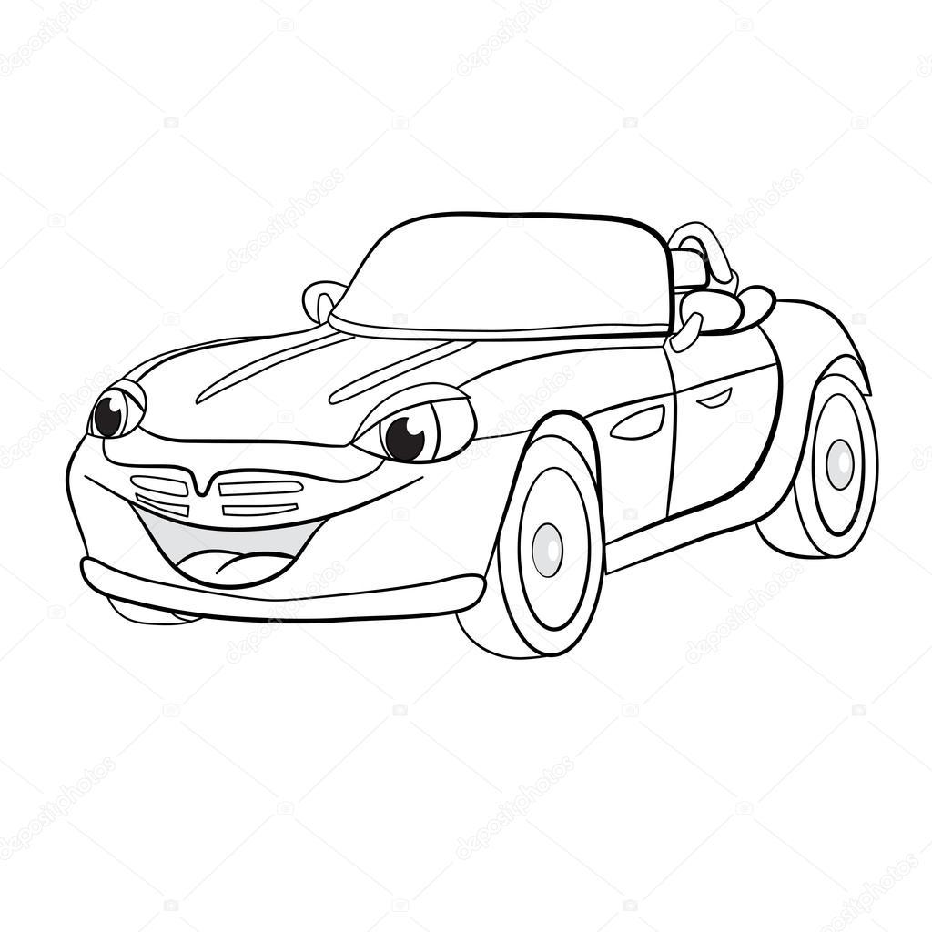 cartoon of merry car cabriolet — Stock Vector © vitasunny