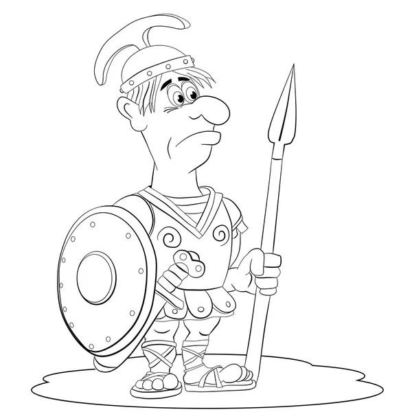 Legionario romano del cartone animato — Vettoriali Stock