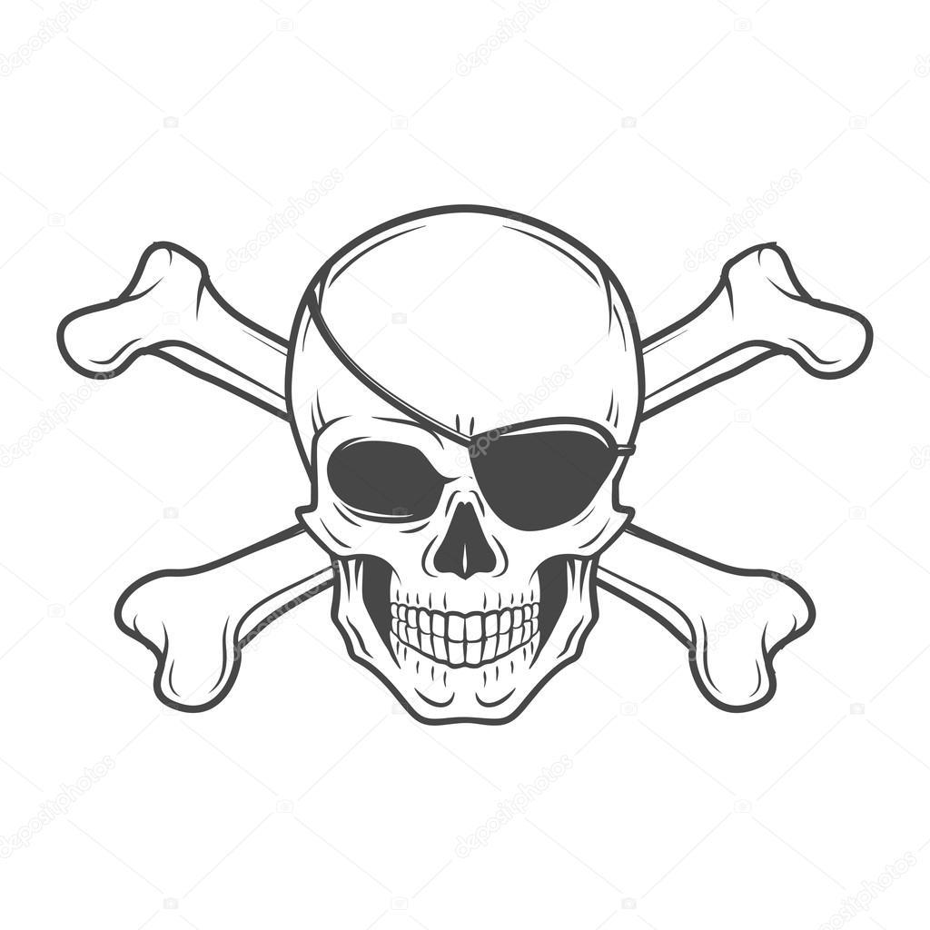 Piraten Totenkopf Vorlage - Vorlagen zum Ausmalen gratis