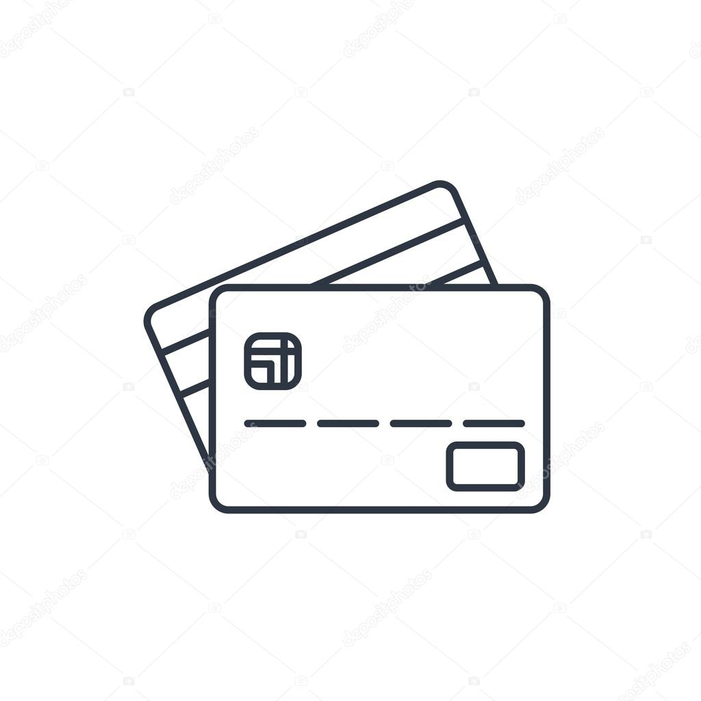 Credit card outline icon — Stock Vector © Icon_Craft