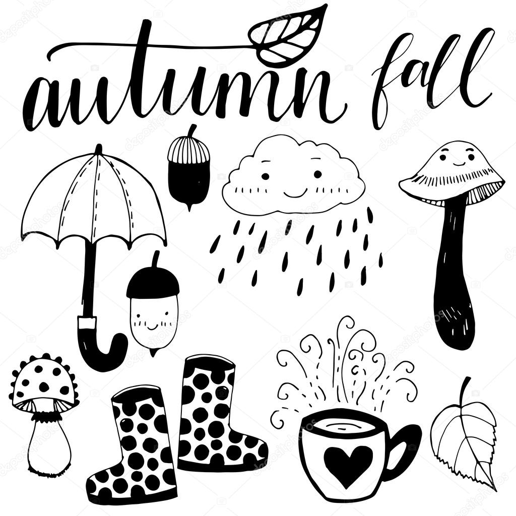 Fall Autumn Cartoon Icons