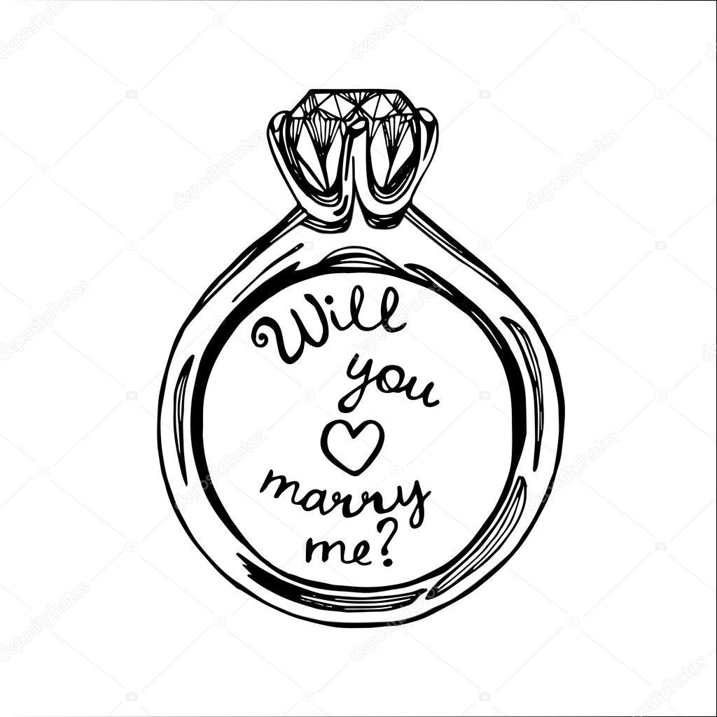 Hand Drawn Wedding Ring