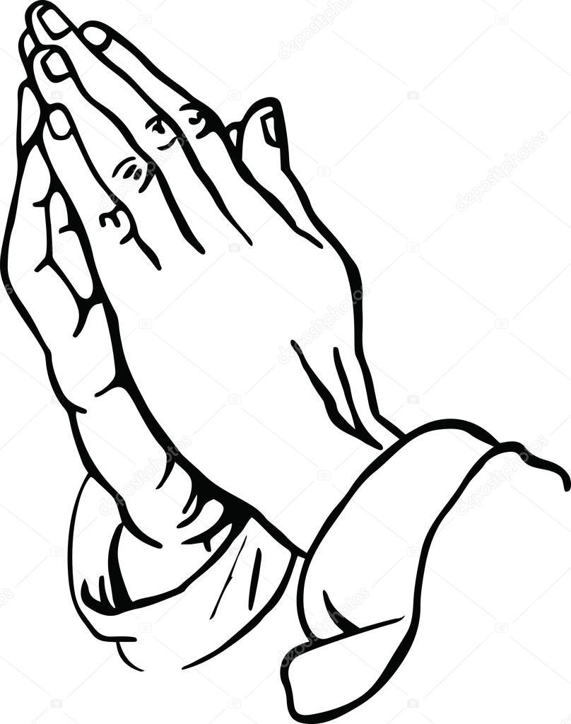 Manos humanas en la oración — Vector de stock © Prawny